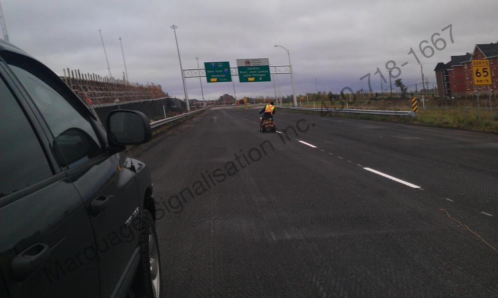 Marquage temporaire autoroute 30